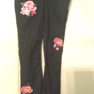 Kate Spade Cropped Jeans with Pink Flowers